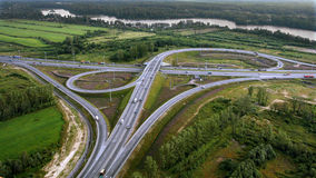 Aerial View of Overpass, Ringway, aerial photo Royalty Free Stock Images
