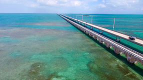 Aerial view of Overseas Highway, Florida - USA Stock Image