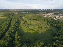 Aerial view of Oxbjerget, Denmark. Aerial view of Oxbjerget located in glostrup, Denmark stock photos