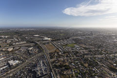 Aerial View of Oxnard and Ventura California Royalty Free Stock Images