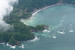 Aerial view of the pacific coast of Costa Rica Stock Photography
