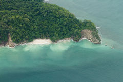 Aerial view of the pacific coast of Costa Rica Royalty Free Stock Image