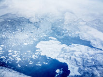 Aerial view of pack ice royalty free stock photography