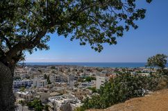 Aerial view of Pafos. Cyprus taken from the Muze restaurant Stock Photo