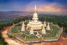 Aerial view pagoda Stock Photos