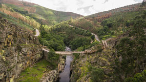 Aerial view of Paiva Nature Walkways on Paiva river, Portugal Royalty Free Stock Photography