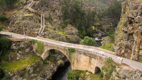 Aerial view of Paiva Nature Walkways on Paiva river, Portugal Royalty Free Stock Image