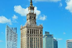Aerial view Palace of Culture and Science Royalty Free Stock Photography