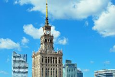 Aerial view Palace of Culture and Science Stock Photos