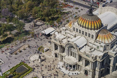 Aerial view of the Palace of Fine Arts Stock Photo