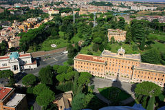 Aerial view of Palace of the Governorate of Vatican Stock Photo