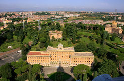 Aerial view of Palace of the Governorate of Vatican Royalty Free Stock Photography