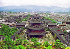 Aerial view of palace in lijiang, china Royalty Free Stock Photos
