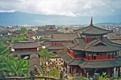 Aerial view of palace in lijiang, china Royalty Free Stock Images