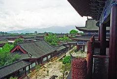 Aerial view of palace in lijiang, china Royalty Free Stock Photography