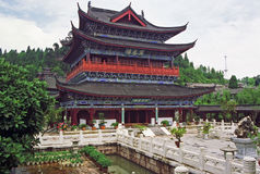 Aerial view of palace in lijiang, china Stock Image