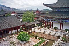 Aerial view of palace in lijiang, china Stock Photos