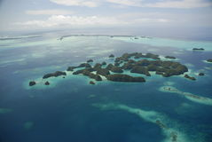 Aerial view of Palau's Seventy Islands Stock Photo