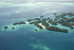 Aerial view of Palau's Seventy Islands Royalty Free Stock Images