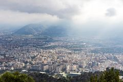 Aerial view of Palermo city, Sicily, Italy Stock Photography