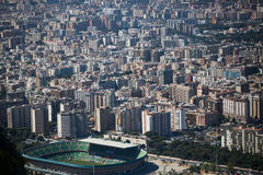 Aerial View of Palermo, Italy With a view of the stadium. Stock Photo