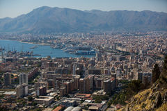 Aerial View of Palermo, Italy Stock Image