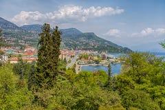 Aerial view of Pallanza, Verbania province, Maggiore Lake, Italy. royalty free stock photos