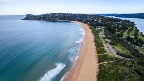 Aerial view of Palm Beach peninsula Sydney Australia Royalty Free Stock Photo