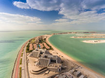 Aerial view of Palm Jumeirah Island, Dubai Stock Images