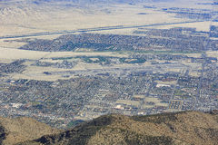Aerial view of Palm Springs city Royalty Free Stock Photography