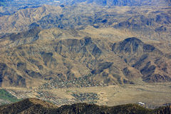 Aerial view of Palm Springs city. From top, California stock image