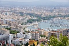 Aerial view of Palma de Mallorca Stock Photography