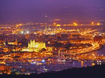 Aerial view of Palma of Majorca Royalty Free Stock Image