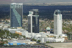 Aerial view of The Palms Casino Hotel in Las Vegas. LAS VEGAS - SEPTEMBER 26, 2014: Aerial view of The Palms Casino Hotel in Las Vegas. The Palms Casino Resort royalty free stock photo