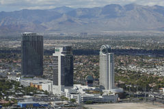 Aerial view of The Palms Casino Hotel in Las Vegas. LAS VEGAS - SEPTEMBER 25, 2014: Aerial view of The Palms Casino Hotel in Las Vegas. The Palms Casino Resort stock photo