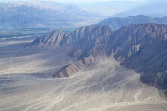 Aerial view of Pampas de Jumana near Nazca, Peru. Royalty Free Stock Photography