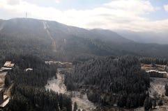 Aerial view - Pamporovo ski Resort - Bulgaria royalty free stock image