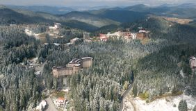 Aerial view - Pamporovo ski Resort - Bulgaria Stock Images