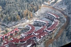 Aerial view - Pamporovo ski Resort - Bulgaria Royalty Free Stock Image