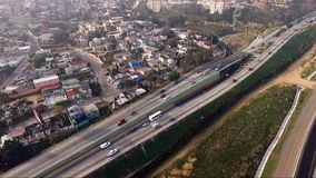 Aerial View Pan Up Fence Border United States Mexico Tijuana stock video footage