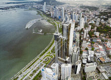Aerial view of Panama City Stock Photography