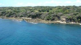 Aerial view of Panama pacific coastline. Panama Canal stock footage