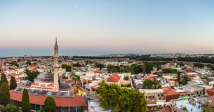 Aerial View Panorama at Rhodes Island, Greece Stock Photography