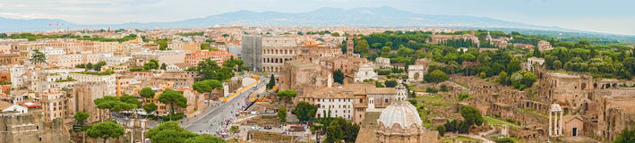 Aerial view Panorama of Rome Royalty Free Stock Photos