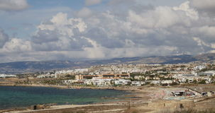 Aerial view of Paphos, France stock video footage