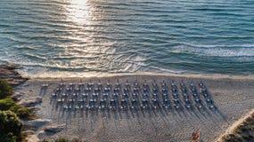 Paradise beach. Thassos Island, Greece Royalty Free Stock Photo