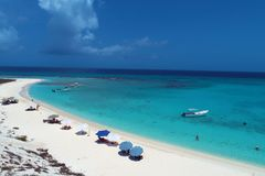 Caribbean sea, Los Roques. Vacation in the blue sea and deserted islands. Dream. royalty free stock photo