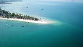 Aerial view of paradise Ko Lipe stock video footage