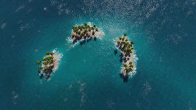 Aerial view of a paradise tropical islands Stock Photos