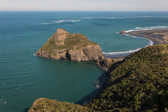 Aerial view of Paratutae Island. In New Zealand Royalty Free Stock Photo